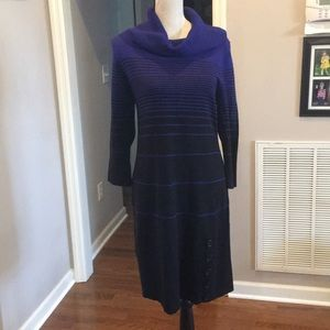 Sandra Darren sweater dress with button detail. PL